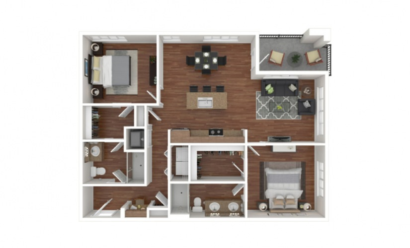 Kimball 2 bedroom 2 bath 1118 square feet
