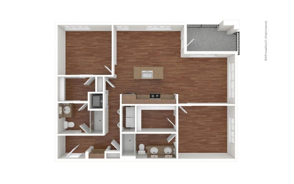 Kimball 2 bedroom 2 bath 1118 square feet (1)