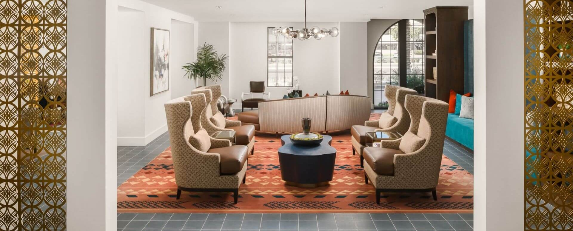 Resident lounge at Scottsdale apartments for rent
