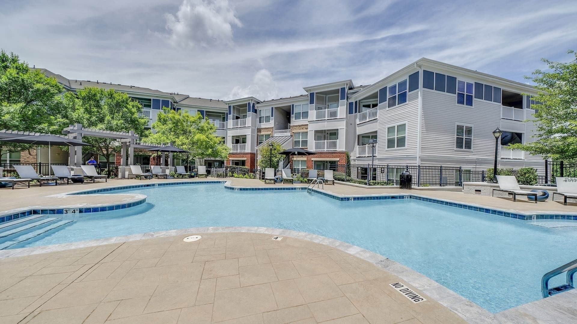 Luxurious Resort-Style Pool At Our Apartments Near RTP