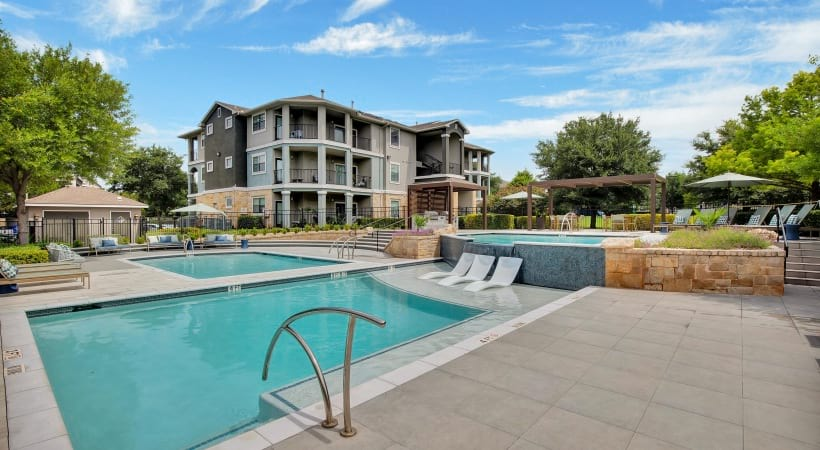 Cortland apartment complex with pools