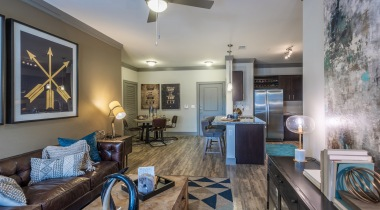 Spacious apartment floor plan at Cortland Preston North