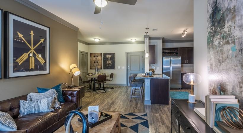 Two bedroom apartment floor plan at Cortland Preston North