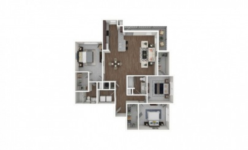 C2 - 2 BR w/Home Office