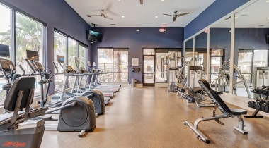 Apartment gym at Cortland Spring Cypress in Spring, TX