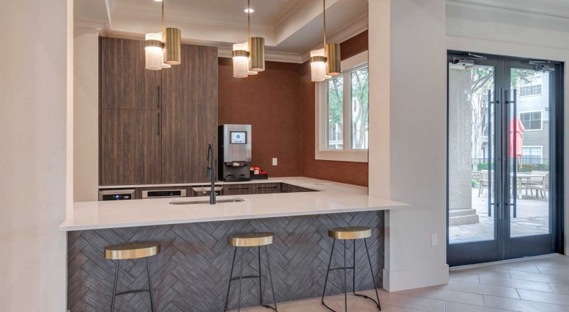 Cortland at Valley Ranch Resident Kitchen with Coffee Bar