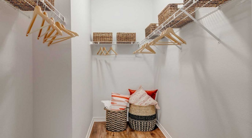 Upscale apartments in Irving, TX with spacious walk-in closets