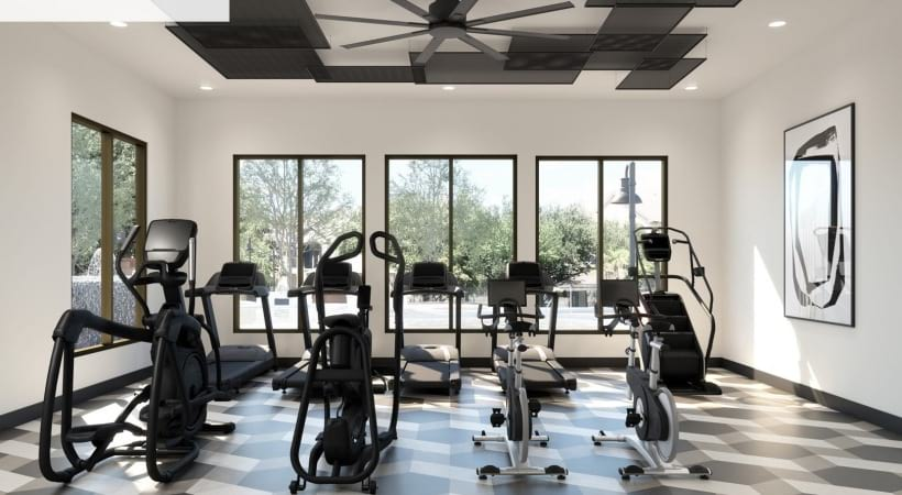 Fitness center at Stoneleigh at Bear Creek