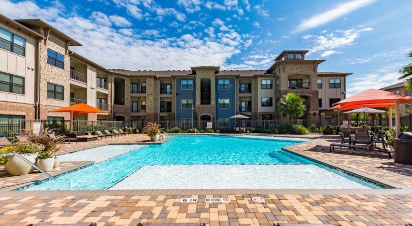 Resort style pool at Cortland Cinco Ranch