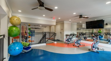 Spin studio at apartments in Katy, TX