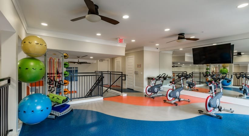 Spin studio at apartments in Katy, TX