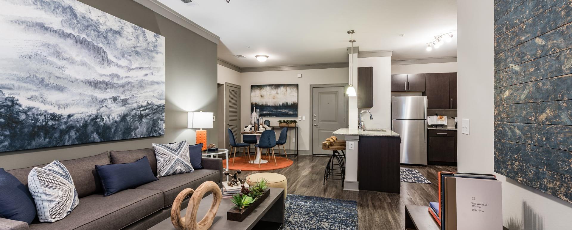 Luxury apartment floor plan at Cortland Cinco Ranch