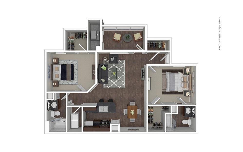 The Sydney 2 bedroom 2 bath 1233 square feet