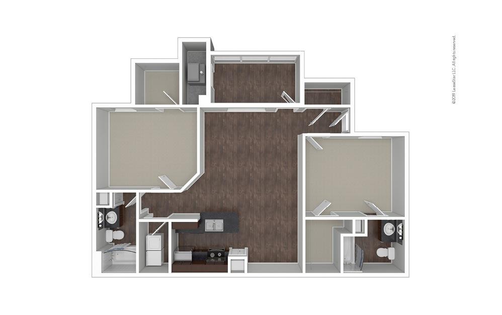 The Sydney 2 bedroom 2 bath 1233 square feet (1)