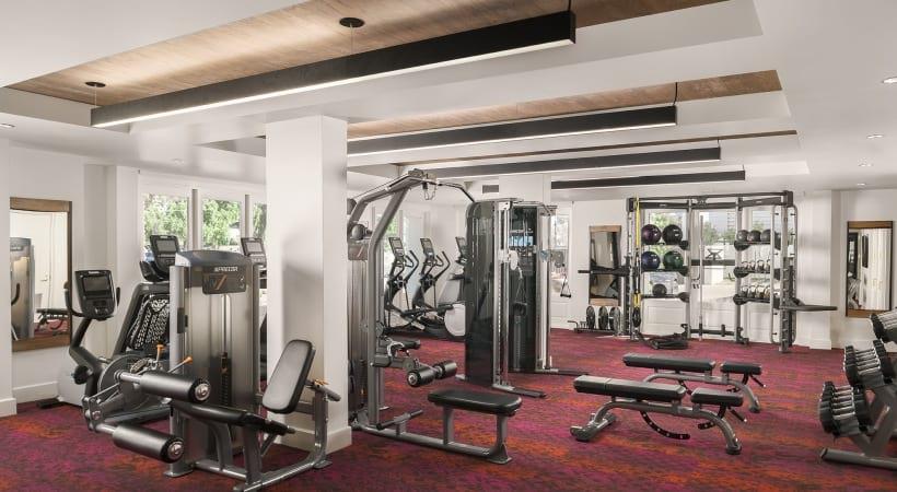 Fitness center at apartments in Phoenix, AZ