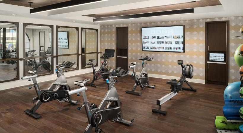 Apartments with fitness center at Cortland Biltmore