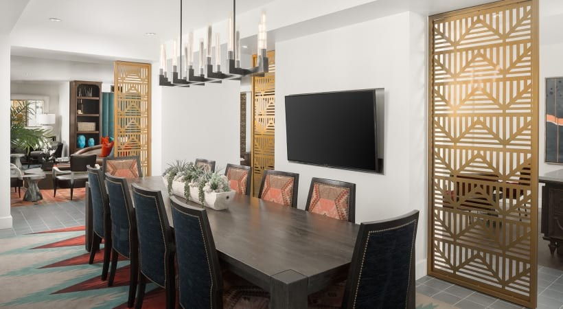 Resident clubhouse with HDTVs at Cortland Biltmore