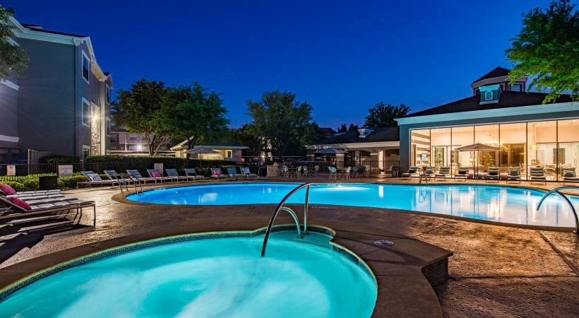 Resort style pool at our apartments by Cortland