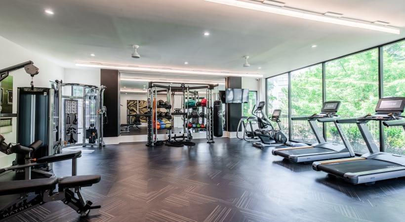 Fitness center at Cortland North Beach