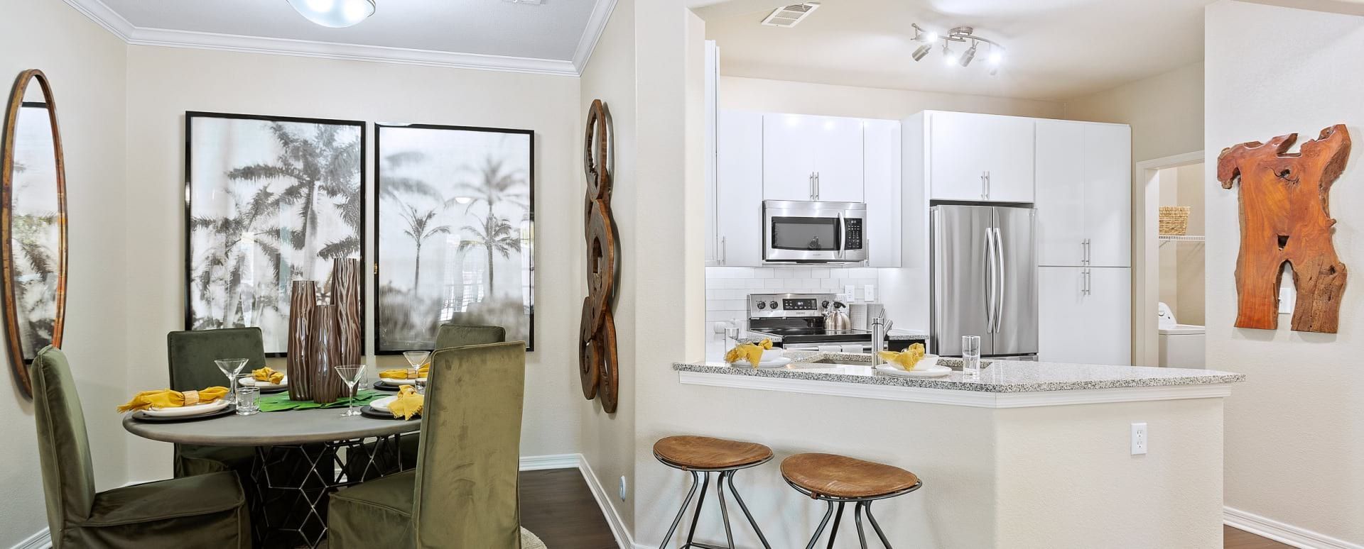 Kitchen and dining area at apartments for rent in Mesa, AZ