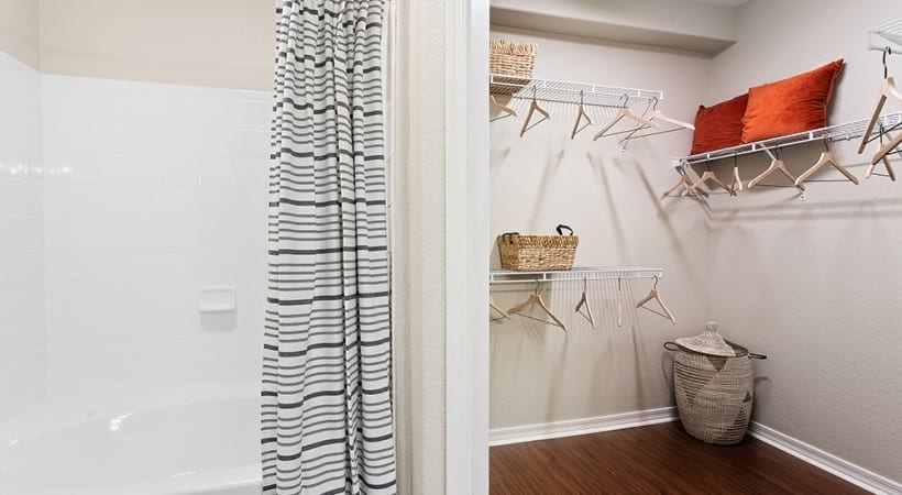 Luxury apartments with walk-in closets
