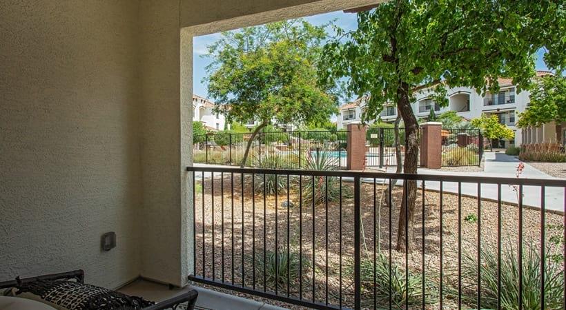 Luxury apartment balcony at Cortland Mountain Vista