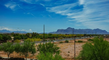 Scenic mountain views form our apartments in Mesa, AZ