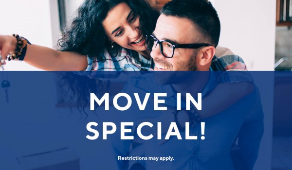 6 weeks off rent when you move in before 9/30/19. Immediate move-ins welcome.