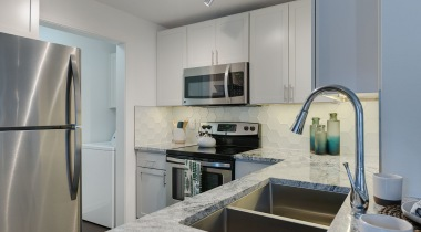 Luxury apartment kitchen at Town Center apartments