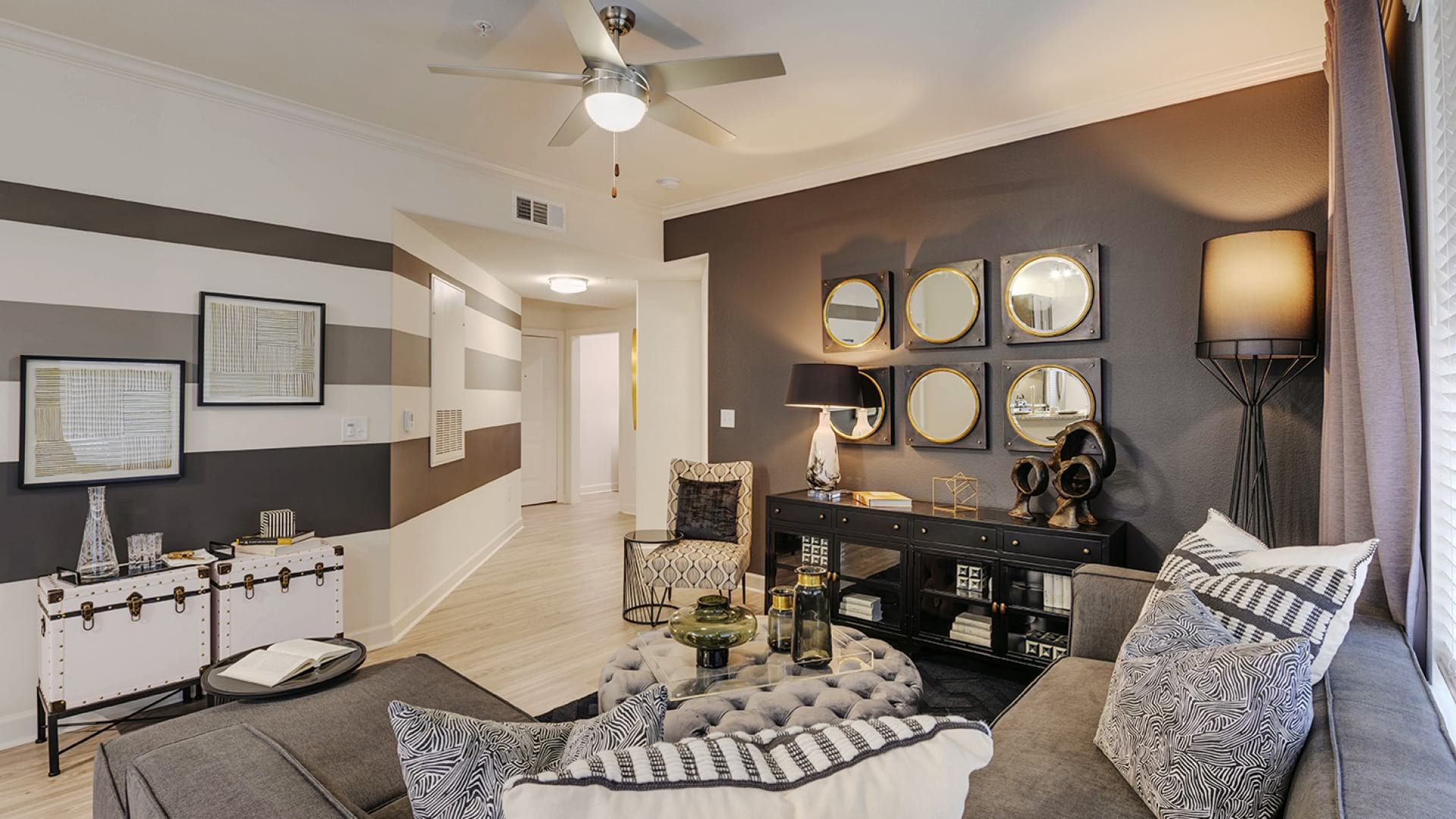 Spacious apartment living areas at The Tradewinds at Willowbrook