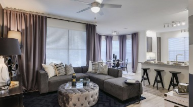 Spacious living areas at apartments in Houston