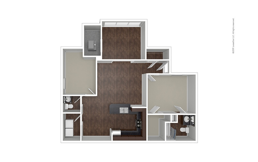 The Utah 1 bedroom 1.5 bath 1097 square feet (1)