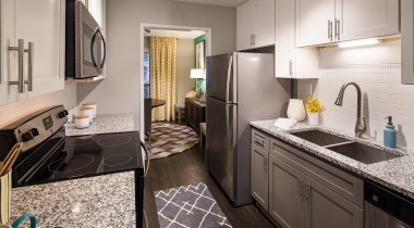 Kitchen with granite countertops at our spacious apartments near Smyrna, GA