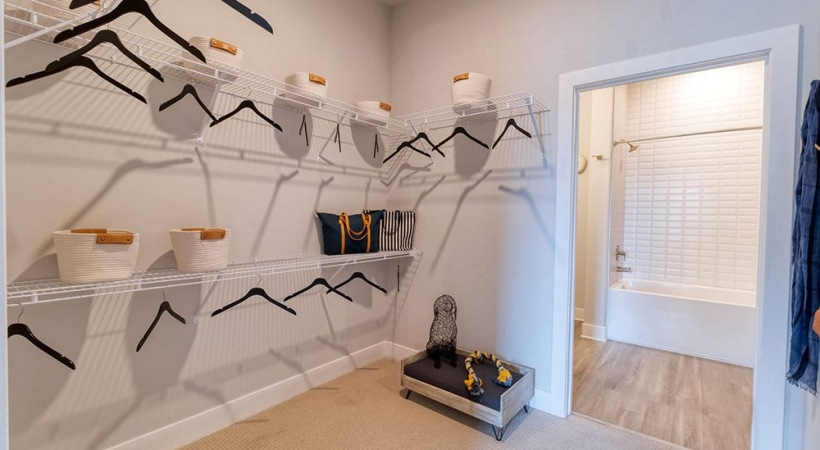 Spacious Walk-In Closet At Our Apartments In Brookhaven, GA