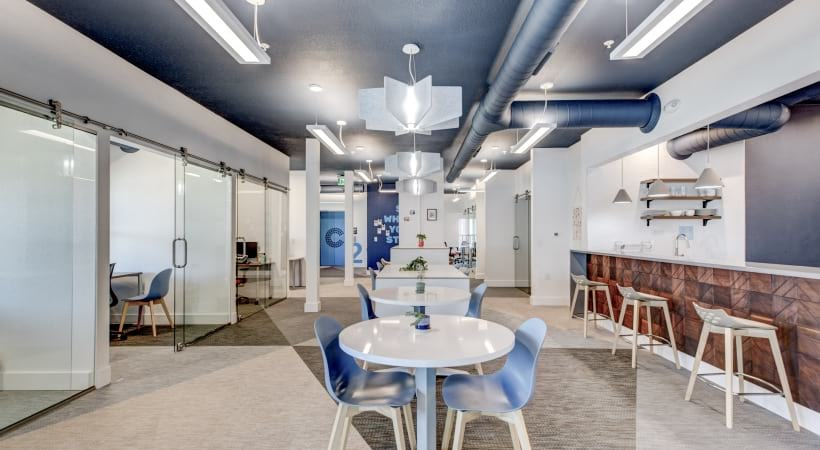 Coworking space at our newly renovated apartments near Parker, CO