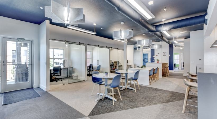 Brand new coworking spaces at our luxury apartments near Parker, CO