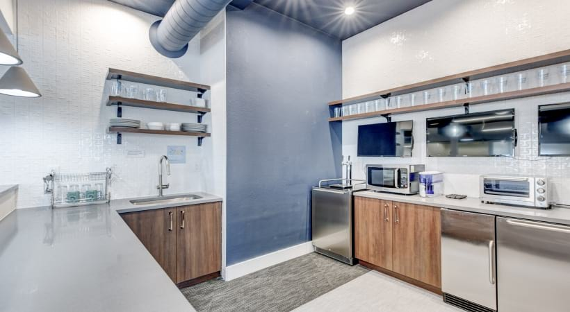 Kitchen at our coworking space at our apartments in Lone Tree, CO