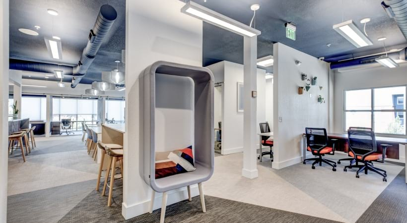 Brand new coworking space at our apartments for rent in Highlands Ranch, CO