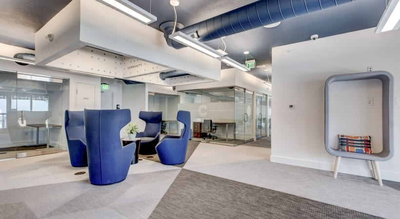 Coworking space at our luxury apartments near Parker, CO