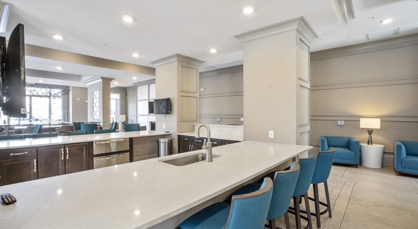 Resident Clubhouse with a Party-Ready Kitchen
