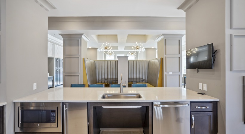 Resident Clubhouse with Party-Ready Kitchen