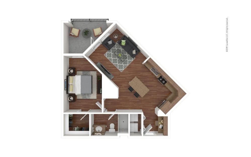 Cobb 1 bedroom 1 bath 706 square feet