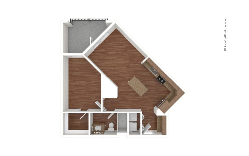 Cobb 1 bedroom 1 bath 706 square feet (1)