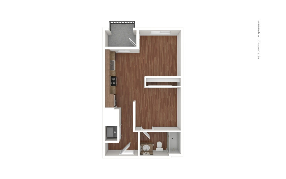 Allen Studio 1 bath 543 square feet (1)