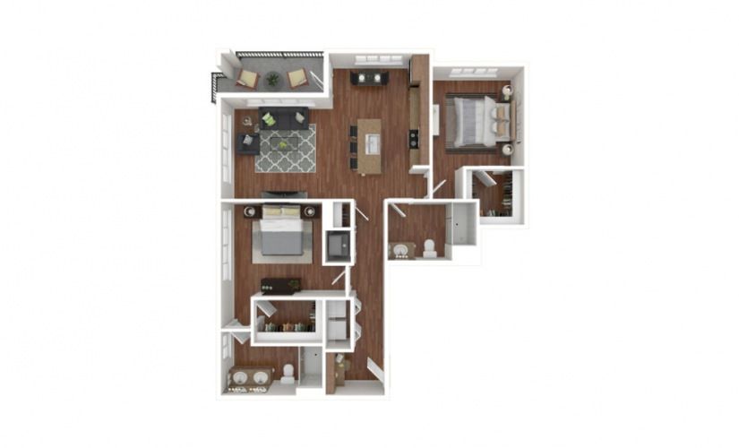 Myers 2 bedroom 2 bath 1186 square feet