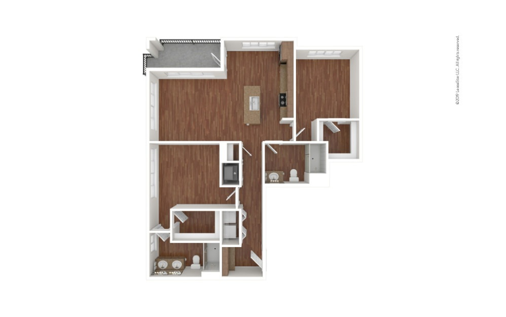 Myers 2 bedroom 2 bath 1186 square feet (1)
