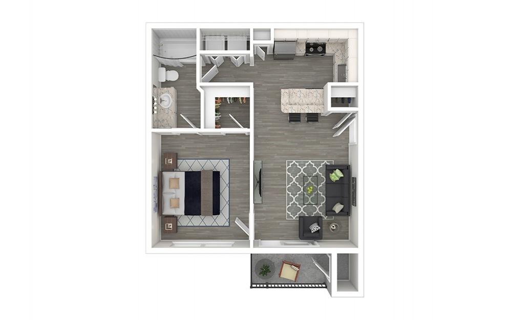 Bryant 1 bedroom 1 bath 610 square feet