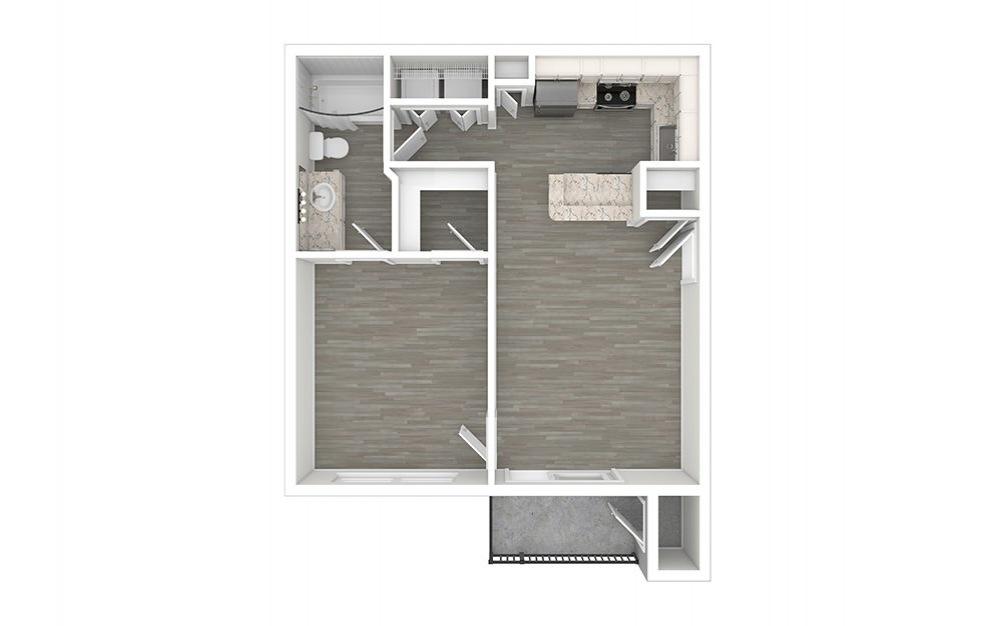 Bryant 1 bedroom 1 bath 610 square feet (1)