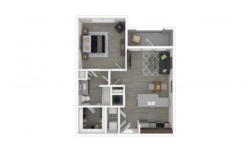A1 1 bedroom 1 bath 661 square feet