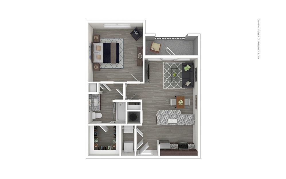 A2 - No Balcony 1 bedroom 1 bath 759 square feet
